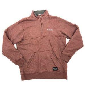 Columbia Sweater M Mens 1/4 Zip Pullover Fleece
